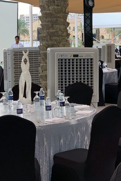 Outdoor coolers / AC rented for an event in dubai